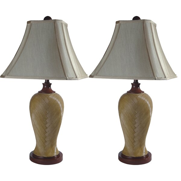 Rattan Resin Inspired 29.5 Table Lamp (Set of 2) by Sintechno