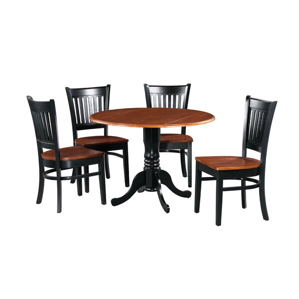 Shorewood 5 Piece Drop Leaf Solid Wood Dining Set by August Grove August Grove