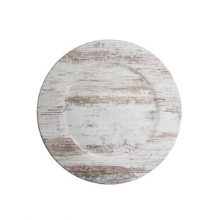 Edgin Birch Wood 13\  Melamine Charger Plate  sc 1 st  Wayfair & 14 In Rustic Wood Charger Plate | Wayfair