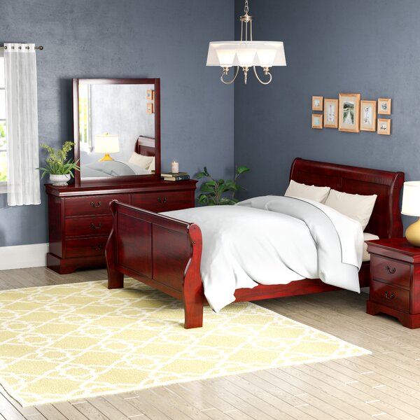 Burleson 4 Piece Queen Sleigh Bedroom Set by Three Posts