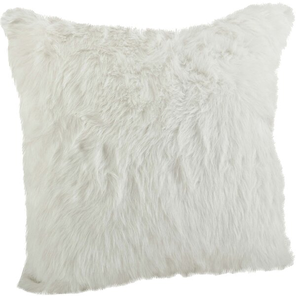 Branchville Square Faux Fur Throw Pillow by Greyleigh