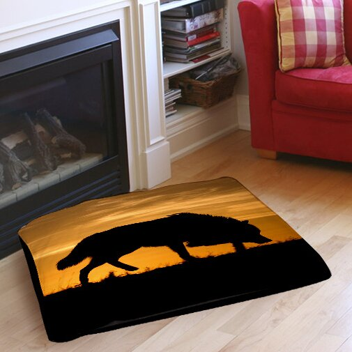 Wolf Silhouette Indoor/Outdoor Pet Bed by Manual Woodworkers & Weavers