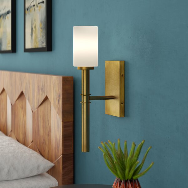 Darrell 1-Light Wall Sconce by Langley Street