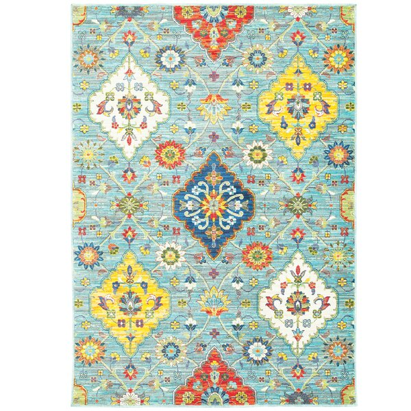 Mansi Blue/Yellow Area Rug by Bungalow Rose