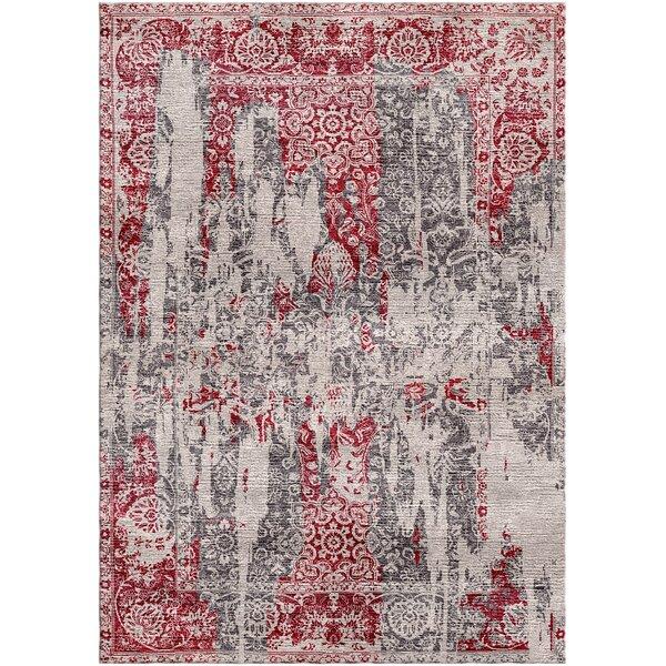 Aliza Handloom Red/Beige Area Rug by Bungalow Rose