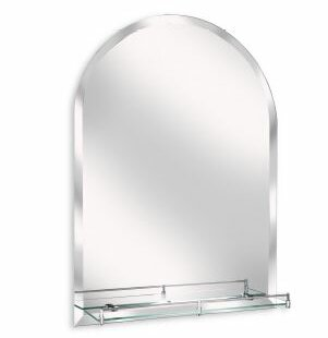 Arch Wall Mirror Modern & Contemporary Beveled with Shelves