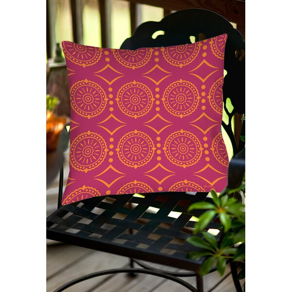 Banias Medallion Indoor/Outdoor Throw Pillow by Manual Woodworkers & Weavers