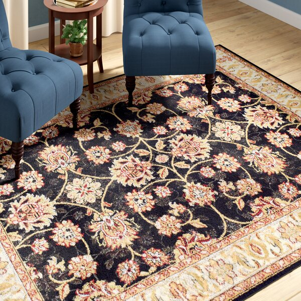 Falgout Black Area Rug by Charlton Home