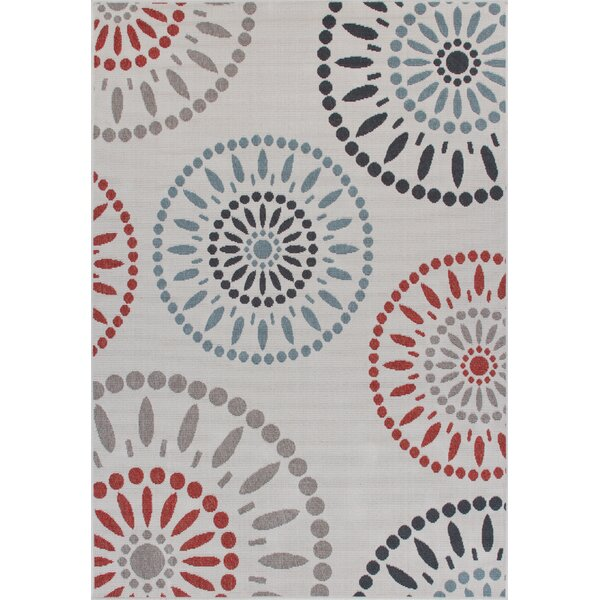 Eoin Weather-Proof Cream Indoor/Outdoor Area Rug by Winston Porter