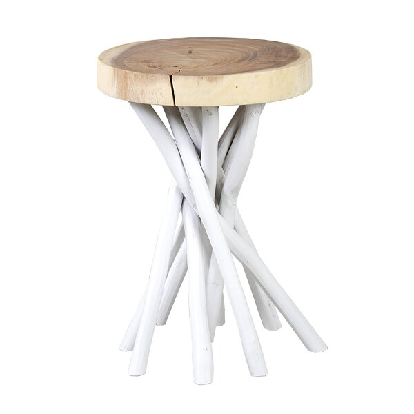 Harte Solid Wood Pedestal End Table by Bungalow Rose Bungalow Rose