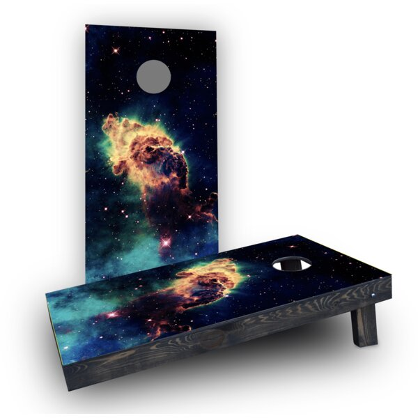Space Dust Cornhole Boards (Set of 2) by Custom Cornhole Boards