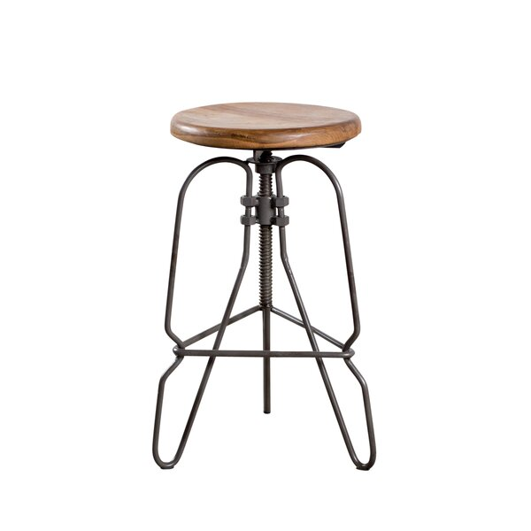 Adjustable Height Swivel Bar Stool by Wildon Home ®