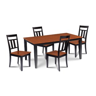 Charlestown 5 Piece Solid Wood Dining Set By Alcott Hill