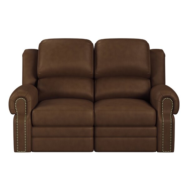 Hilltop Leather Reclining Loveseat By Westland And Birch