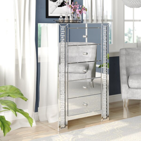 Lasater Crystal 5 Drawer Chest by Rosdorf Park