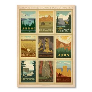 'National Park Multi Print 2' Vintage Advertisement by East Urban Home