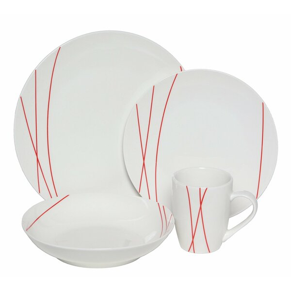 Premium Lines 32 Piece Place Setting, Service for 8 by Melange