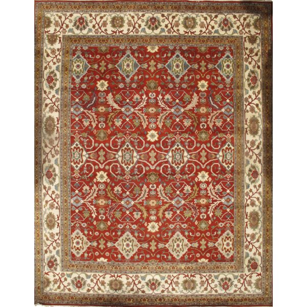 Serapi Hand-Knotted Wool Rust/Ivory Area Rug by Pasargad NY