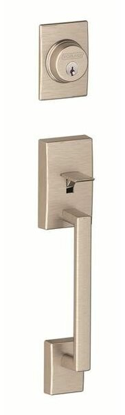 Century Handleset with Double Cylinder Deadbolt and Merano Lever by Schlage