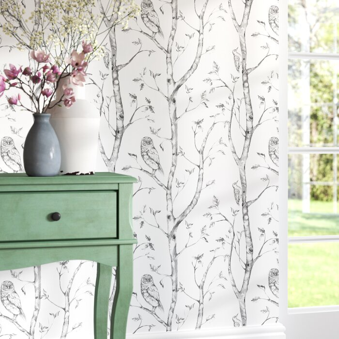 Gabin Grey Woods Peel And Stick Wallpaper