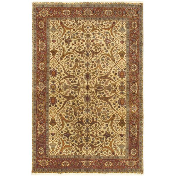 One-of-a-Kind Greenspan Hand-Knotted Cream Area Rug by Isabelline