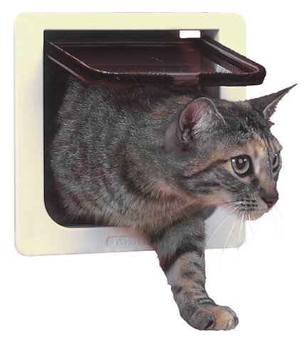 Cat Door with 4 Way Lock Pet Door by Perfect Pet b