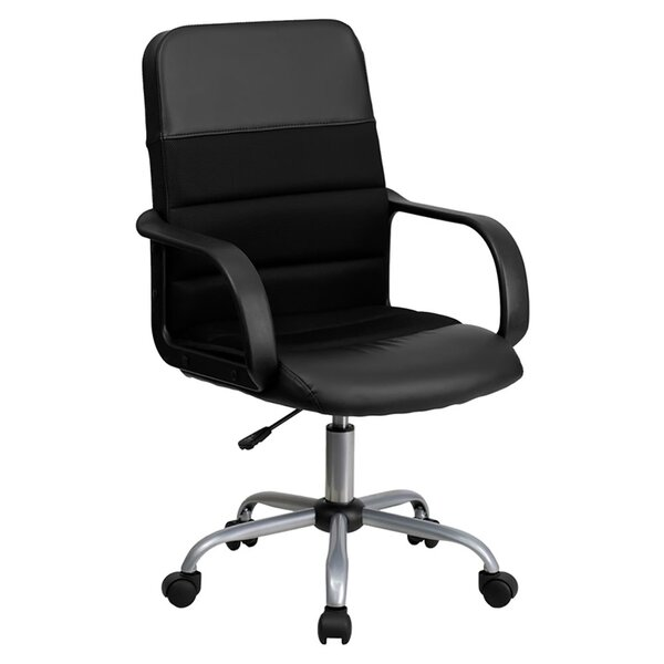 Mid-Back Leather and Mesh Desk Chair by Offex
