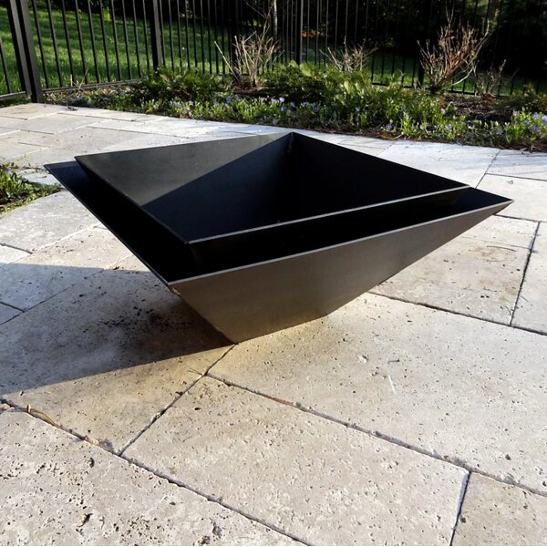 Pyramid Steel Wood Burning Fire Pit by Cavo Design