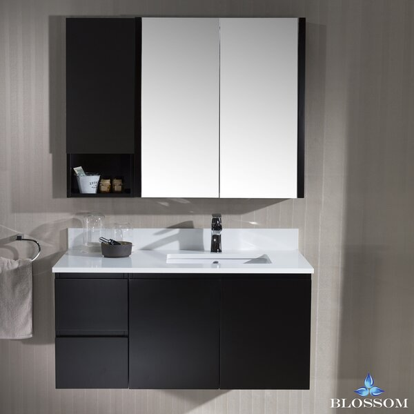 Maly 42 Wall-Mounted Single Bathroom Vanity Set with Mirror by Orren Ellis