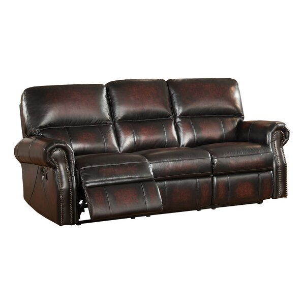 Nevada Reclining 2 Piece Leather Living Room Set by Amax
