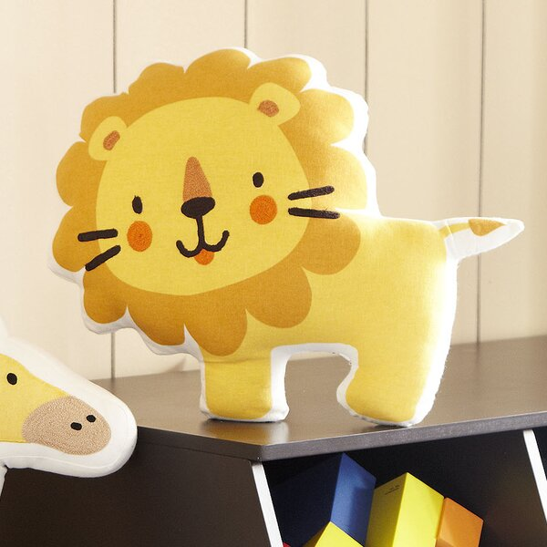 Lion Ark Cotton Throw Pillow by Birch Lane Kids™