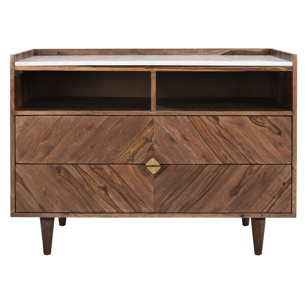 Cora Rose 2 Drawer Accent Chest by Union Rustic Union Rustic