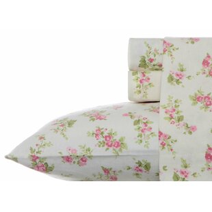 Audrey 100% Cotton Flannel Sheet Set by Laura Ashley Home ByLaura Ashley