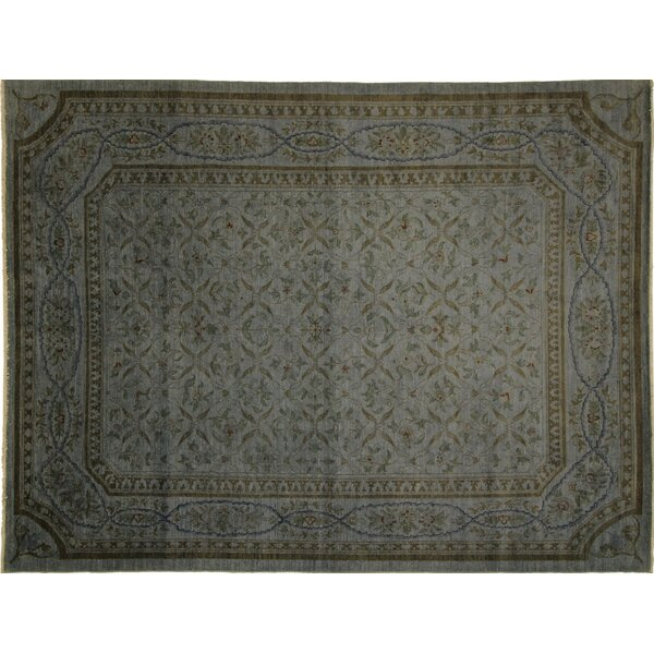 One-of-a-Kind Arneson Overdyed Hand-Knotted Teal Blue Area Rug by Isabelline
