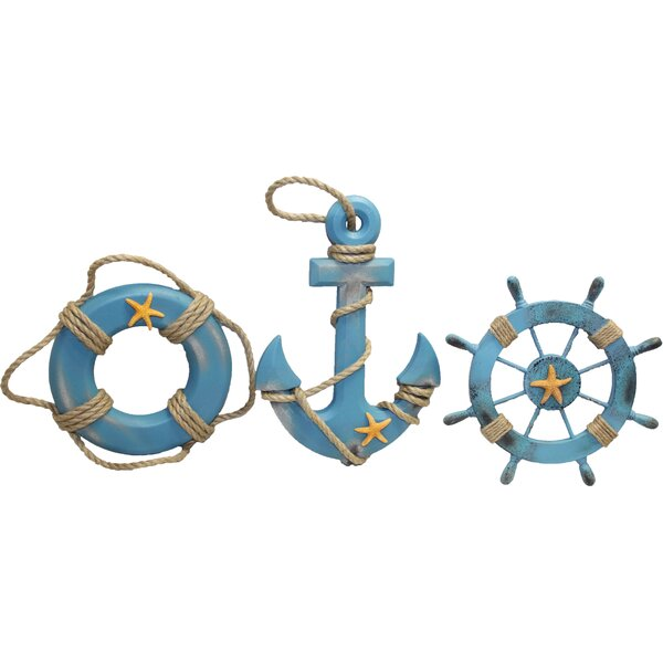 Gino Anchor Wheel Lifering Sculpture by Breakwater Bay