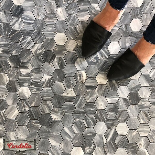 Adriatica 0.63 x 0.63 Mosaic Tile in Bardiglio