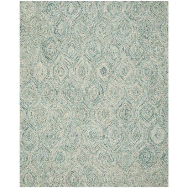 Ikat Ivory & Blue Area Rug by Safavieh
