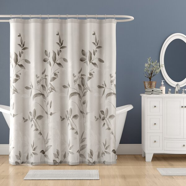 Lazenby Printed Shower Curtain by Charlton Home