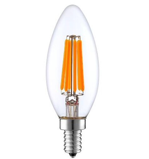 60W Equivalent E12 LED Candle Edison Light Bulb by String Light Company