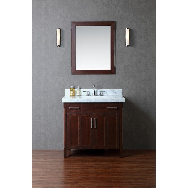 Redford 36 Single Bathroom Vanity Set with Mirror by Ariel Bath