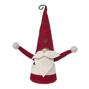 handmade christmas gnome figurine in hand felted wool - Christmas Gnome
