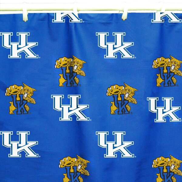 NCAA Kentucky Cotton Printed Shower Curtain by College Covers