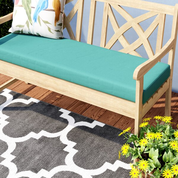 Knife Edge Indoor/Outdoor Sunbrella Bench Cushion with Zippered by Darby Home Co