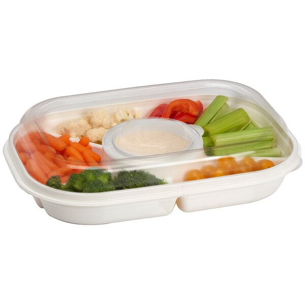 Extra Large Party Divided Serving Dish by Rebrilliant