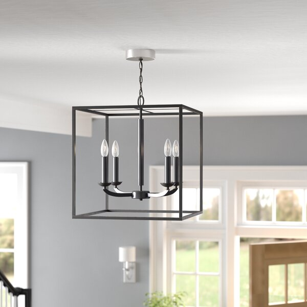 Dearmond 4 - Light Candle Style Rectangle / Square Chandelier By Three Posts