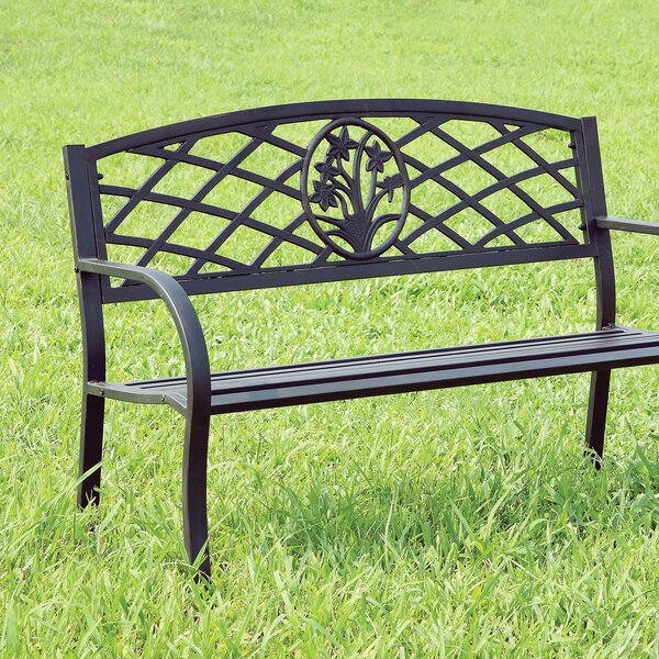 Bozarth Steel Park Bench by Fleur De Lis Living