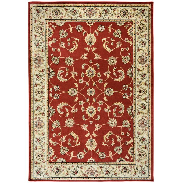 Culver Red Floral Indoor/Outdoor Area Rug by Threadbind