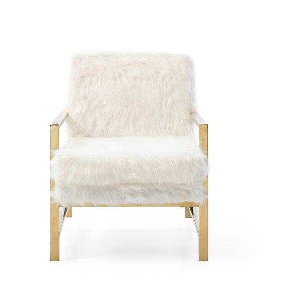 Forsan Faux Fur Armchair by Everly Quinn