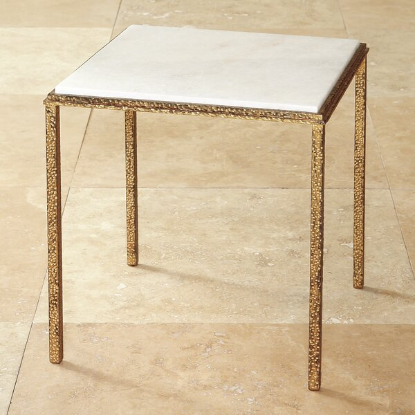 Hammered Square End Table by Global Views