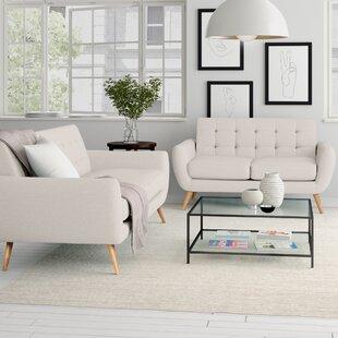 Diara 2 Piece Standard Living Room Set by Zipcode Design™